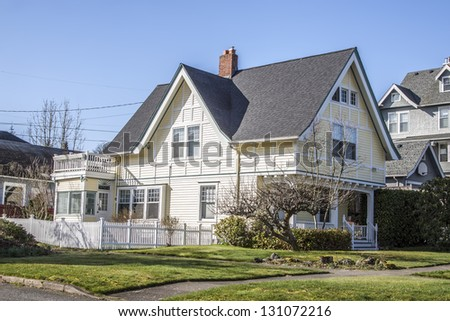 old American two story historical home - stock photo