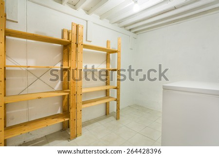 Ã?Â?old room in the basement with freezer - stock photo