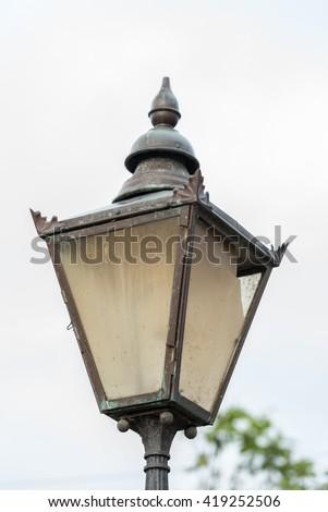 Old street lamp Salisbury England - stock photo
