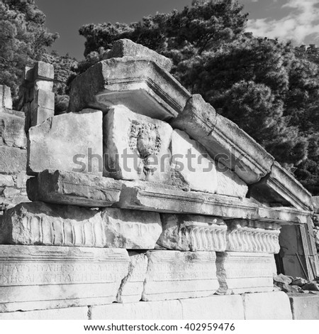 old  temple and theatre in arykanda antalya turkey asia sky and ruins