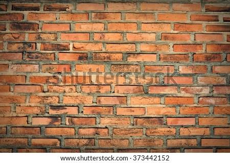 old vintage brick wall,Background of brick wall texture,brick wall - stock photo