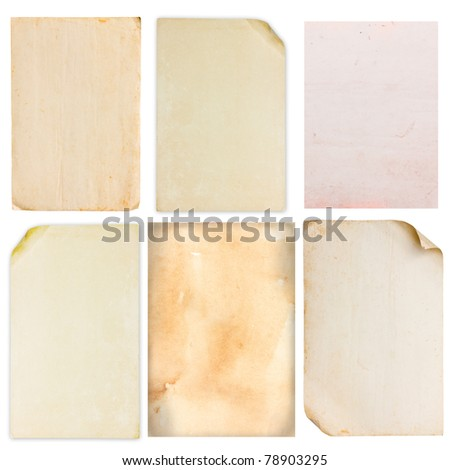 Old vintage paper set - stock photo