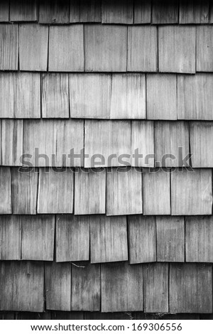 Old wood textured tiled roof background