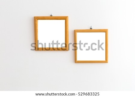 2 Old Wooden Frames Pine Wood Stock Photo Edit Now 529683325