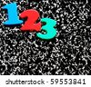 123 on a speckled composition notebook background - stock photo