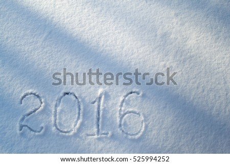 2016 on the snow for the new year