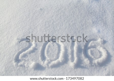2016 on the snow for the new year and christmas