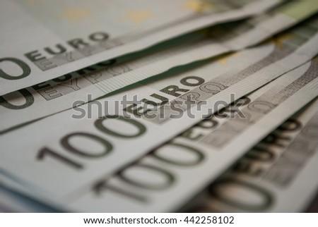 100 one hundreds euro banknotes - stock photo