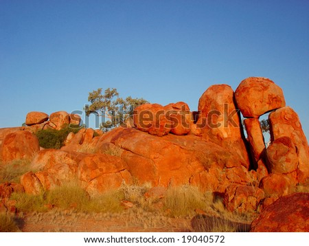 Orange stones - stock photo