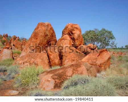 Orange Stones - stock photo