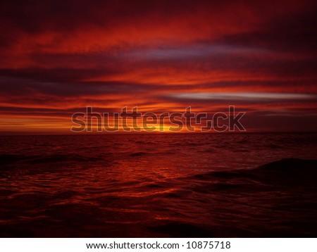 Orange Sunrise - stock photo