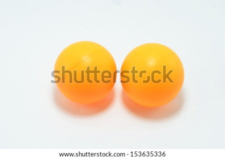Orange table tennis balls.