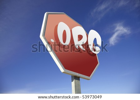 .Org road sign - stock photo