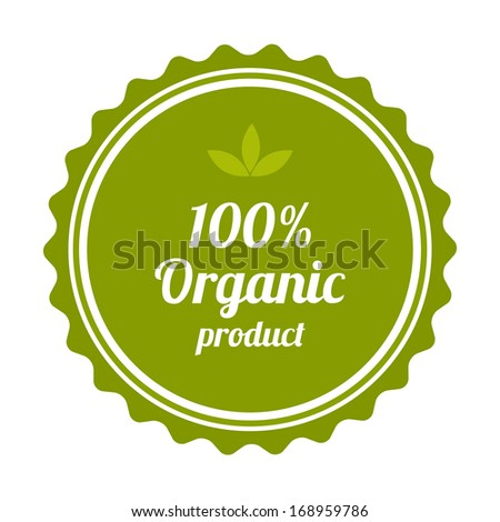 100% Organic product badge and label.  - stock photo