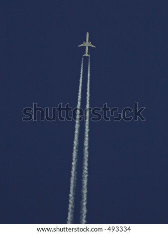 757 overhead - stock photo