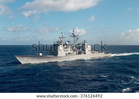2015_02_13 PACIFIC OCEAN - FEB 2015 USS CHOSIN (CG 65) commenced an independent deployer certification exercise (IDCERTEX)