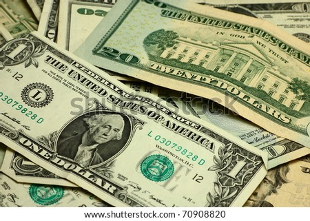 Pack of dollar banknotes - stock photo