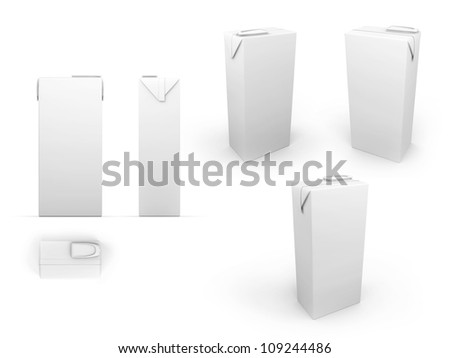 Package with clipping path - stock photo