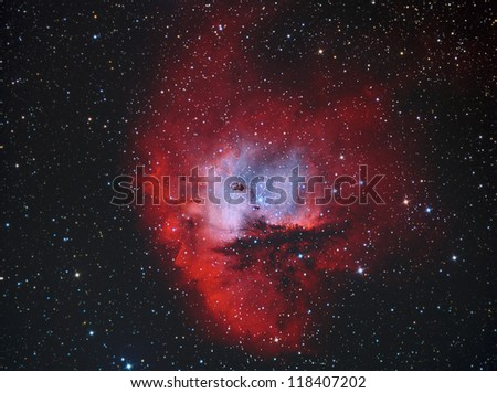 Pacman Nebula in constellation Cassiopeia - stock photo