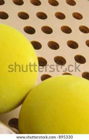 paddle and balls - stock photo