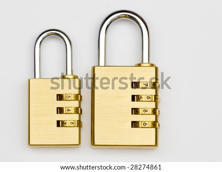 2 padlocks - stock photo