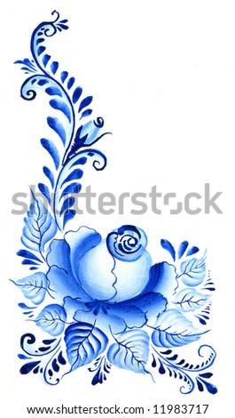 painting flower - stock photo