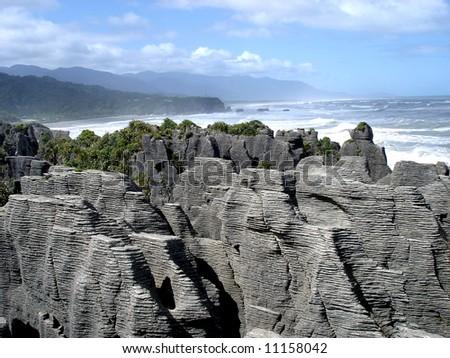 Pancake Rocks - stock photo