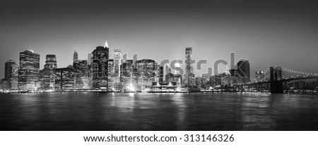 Panorama Of New York City Concept - stock photo