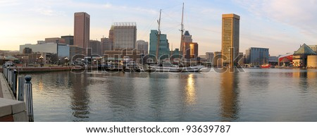 Panorama of the  Skyline of Baltimore - stock photo
