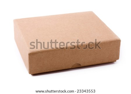 paper box on a white background - stock photo