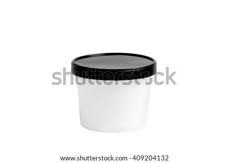 Paper Cups In Three Different Size on White Background