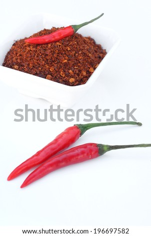 paprika chili powder spices - stock photo