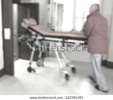 paramedic with the stretcher - stock photo