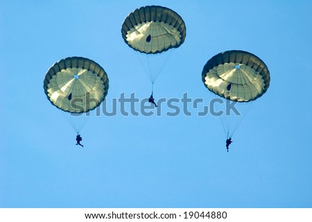 3 paratroopers - stock photo