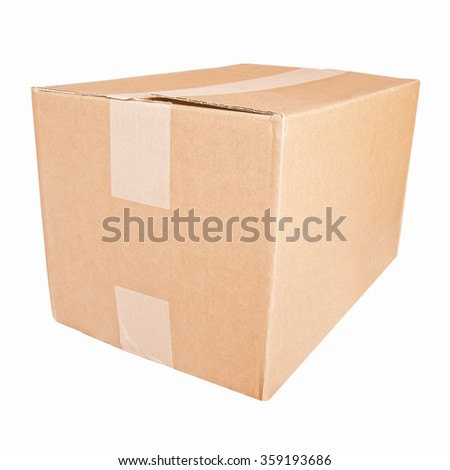 Parcel packet isolated over a white background vintage