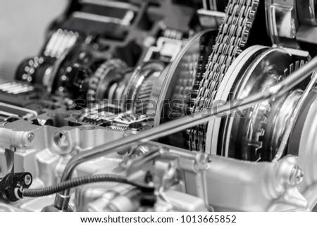 Part Internal Structure Car Engine Black Stock Photo & Image ...