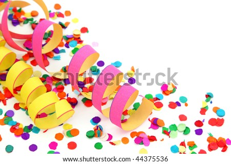 Party decoration isolated on white background - stock photo