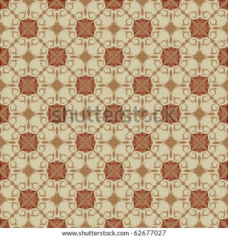 pattern background with organic ornaments, illustration. Vector format is also available in my gallery. - stock photo