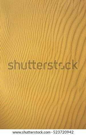pattern of sand on the beach . perfect ground wave