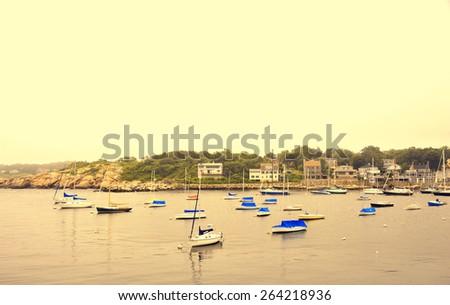 Peace bay at Rockport beach, MA - stock photo
