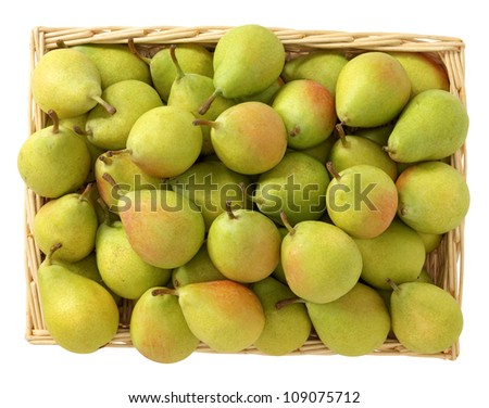 Pear in the basket - stock photo