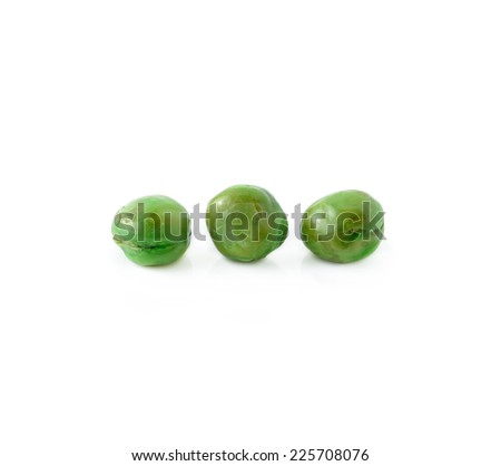 peas isolated on white background - stock photo