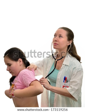 Pediatrician and patient girl