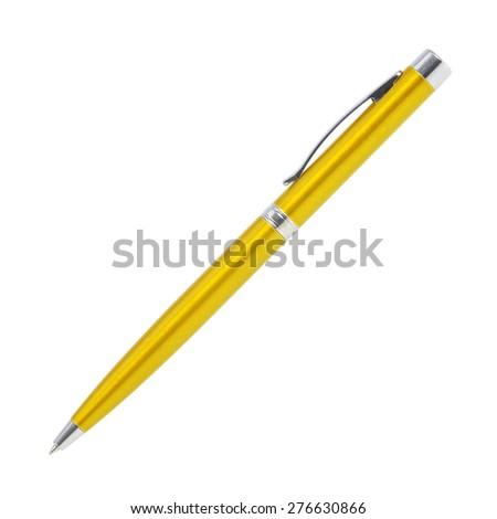 pen isolated on white - stock photo