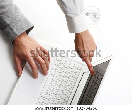 people�s hands at working, top viwe