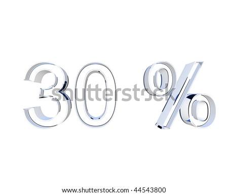30 percent - stock photo
