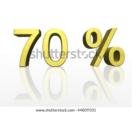 70 percent - stock photo