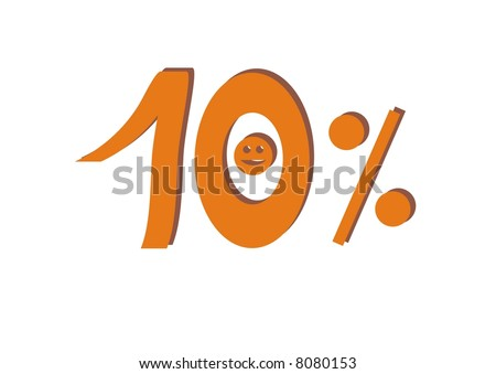 10 percent - stock photo