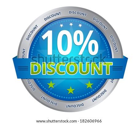 10 percent discount - stock photo