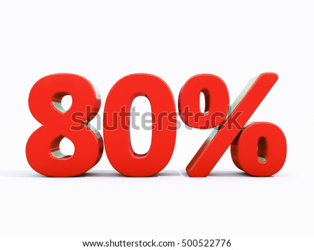 80 Percent Discount 3d Sign on White Background, Special Offer 80% Discount Tag, Sale Up to 80 Percent Off, Sale Symbol, Special Offer Label, Sticker, Tag, Banner, Advertising, Badge, Emblem, Web Icon